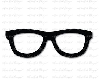 Glasses SVG File svg / pdf / dxf / jpg / png  file for Cameo, svg file for Cricut & other electronic cutters