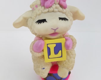 "Lamb Chop and Friends Shari Lewis 1993 Bank Rubber 6.5"" Tall"