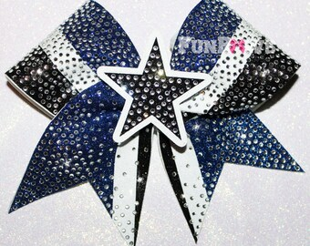 GORGEOUS STAR Rhinestone Cheer Bow  by FunBows  - Customize It !