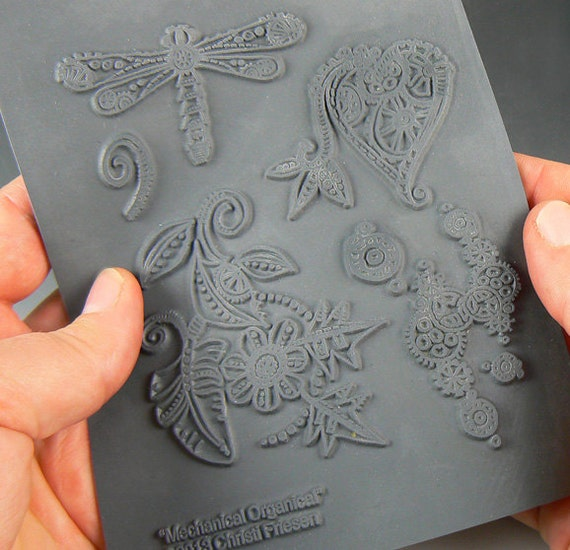 Mechanical Organical an Unmounted stamp great for polymer clay and other crafts designed by Christi Friesen