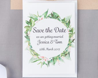 SAMPLE | Floral Watercolour Wedding Stationery | Save the Date | Invite | RSVP