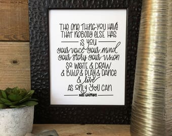 PRINTABLE, Quote, Hand Lettered, Hand Drawn, Instant Download