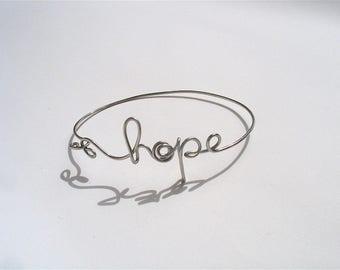 Bracelet with message, name bracelet custom bracelet hope bracelet, handwriting, handwriting jewelry bracelet