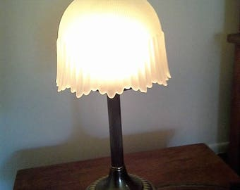 Vintage Accent Lamp with Frosted Shade
