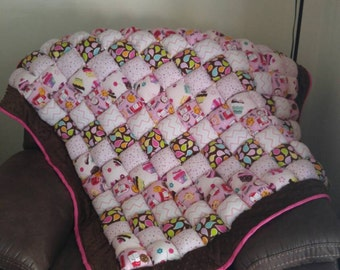Large Bubble puff quilt- you pick the colors