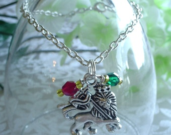 Lion of Judah Charm Drop Bracelet