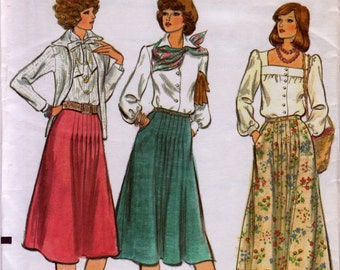 Vintage Vogue Patterns 9248, sewing pattern, skirt pattern, dressmaking, women's clothing, destash, vintage pattern