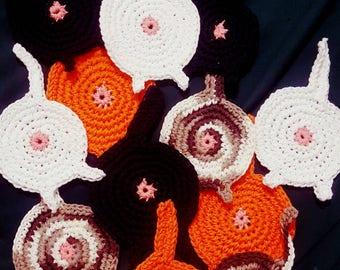 Crocheted Cat Butt Coaster