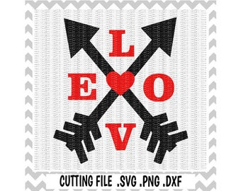 Love Arrow SVG- PNG Cutting Files For Cricut Design Space and Silhouette Cameo, Svg Download.
