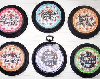 Teacher Appreciation, Teacher Gift, Teacher, Owls, Apples, Colorful, Gifts for Teachers, Wall Hanging, Magnets, School, Teaching, Students,