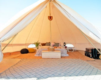 Canvas Bell Tent 16 ft round Festival Tent-Yurt-Bohemian Style-Garden boho style chic,weddings