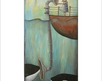 cetacean audioscope - Print 8 x 10