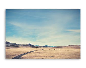 """large canvas wall art, large wall art, large colorful landscape wall art, landscape on canvas, large art on canvas - """"A Country Mile Wide"""""""