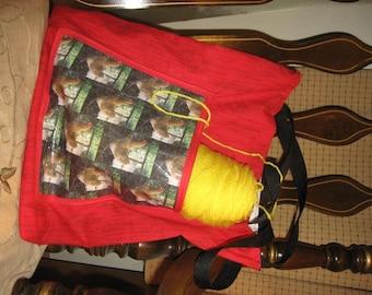 Chicken Barnwood Tote Bag