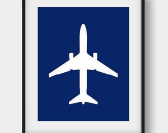 60% OFF Airplane Print, Boys Room Decor, Nursery Aviation Print, Jet Plane Boys Room Art, Aviation Gift, Navy Nursery Airplane Wall Decor