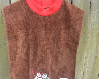 Bib made from re purposed towel, benefits charity, greatcyclechallenge, familyblessingco