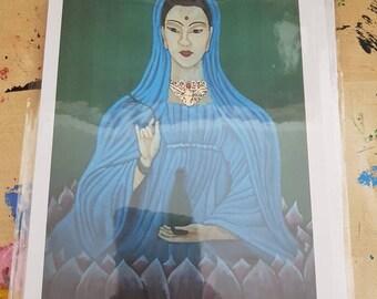 Kuan Yin Greetings Card