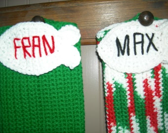 Dog or Cat Oversized-Personalized Crochet Christmas Stocking
