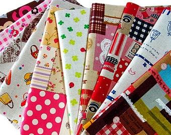 10pcs - Pretty scrap fabric - No.80