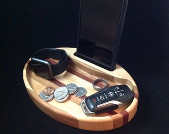 Edc tray, Wood valet tray, Wooden catchall, gift for him, gift for her, Desk organizer, Wood storage tray, edc organizer