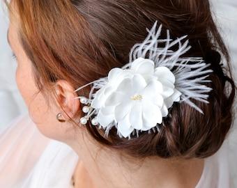 Hairflower, bridal headpiece, wedding headpiece, fascinator, hairaccessory, bridal accessory