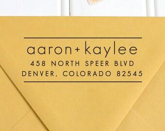 Return Address Stamp, Address Stamp, Self Inking Return Address Stamp, Wedding Return Address Stamp, RSVP Stamp, Custom Stamp - No. 59