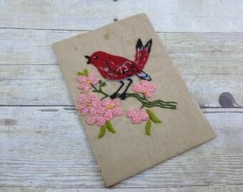 Vintage Embroidered Bird