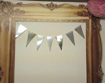 Mirror Bunting ~ weddings, parties, bridal, baby shower