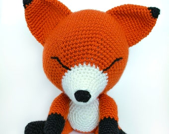 Fox amigurumi crochet yarn handmade soft toy