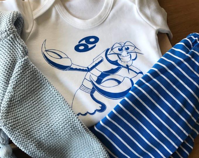 Cancer Zodiac - Organic Baby Bodysuit