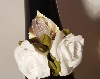 Ladies wedding wrist corsage double rose