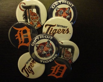 Detroit Tigers Pinbacks or Magnets