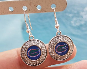 UF Fl Gators, rhinstone earrings~ nice