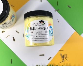 Whipped Fluffy Soap, Lemon Drop soap, Lemongrass, Whip soap, Citrus Soap, Fluff soap, Fluffy whipped soap, summertime, clean scented, Easter