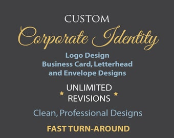 Custom Corporate Identity.  Logo, business card, letterhead, and envelope designs.  Professional. Clean. Graphic Design.