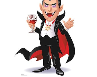 Cartoon Dracula Life-Size Cardboard Cutout