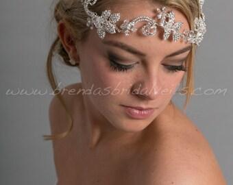 Bridal Hair Vine, Boho Headband, Rhinestone Hair Vine, Rhinestone Wedding Headband - Gilmara