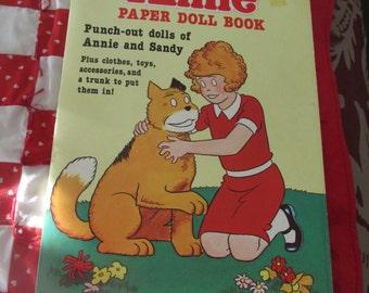 Annie Paper Doll Book Uncut 1982 Orphan Annie Paperdoll