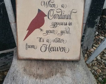 Primitive Sign When a Cardinal Appears In Your Yard it is a Visitor from Heaven
