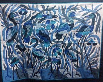 Gamal Kolthoma, Special Blue Crane, Master piece was stitched by Sameh Farougah!