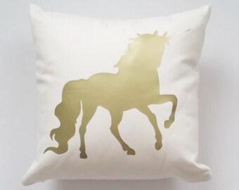 Unicorn Personalized Name Pillow, Decorative Pillows, Throw Pillow, Home Decor, Custom Monogram Accent Pillow Cover, Farmhouse Wedding