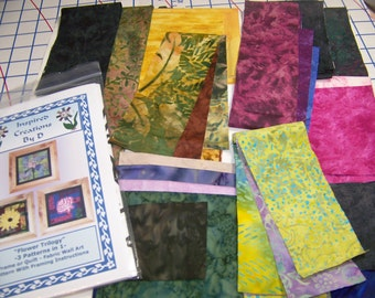 Kit de motif fleur trilogie - 3 modèles en 1 - Art Quilt