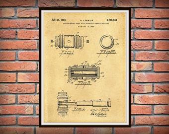 Patent 1956 Gavel Patent - Art Print - Judge Wall Art - Court Gavel - Judicial - Lawyer Wall Art - Court Room Gavel Wall Art