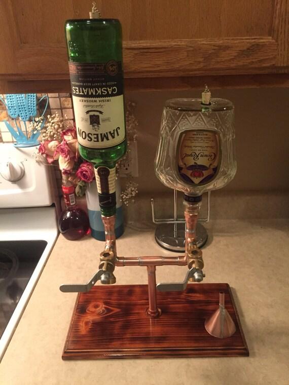 The Double Whiskey/Liquor Dispenser With Bottles