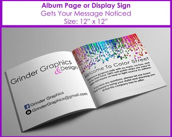 12x12 Welcome to Color Street Album Page or Sign