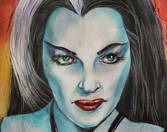 Lily Munster , The Munsters, Steve McGinnis Horror art