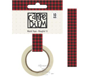 Plaid Washi Tape - Roughin' It - Planner Washi Tape Scrapbooking Embellishment - Carpe Diem - Simple Stories - 475881