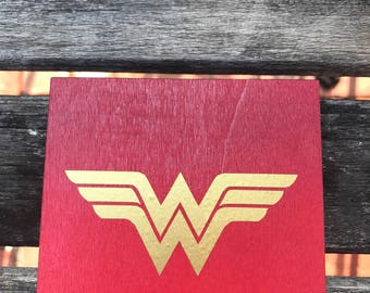 Wonder Woman inspired coasters set of 4
