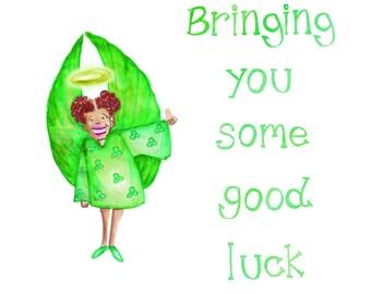 Angel positivity card - good luck