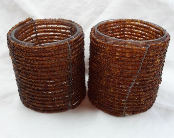 Beaded candle holders